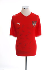 2008-09 Austria Signed Home Shirt L