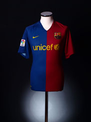 2008-09 Barcelona Home Shirt S.Boys