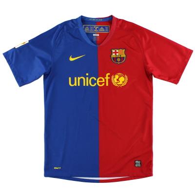 2008-09 Barcelona Home Shirt L.Boys