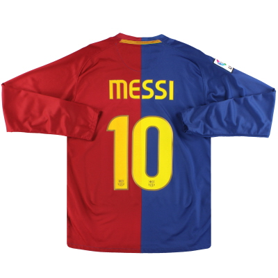 2008-09 Barcelona Nike Home Shirt Messi #10 L/S S