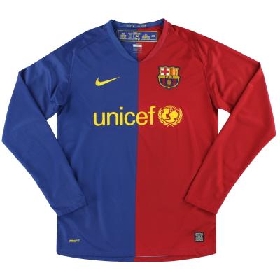 2008-09 Barcelona Nike Home Shirt L/S S