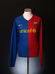 2008-09 Barcelona Player Issue Home Shirt *BNIB* L/S XXL
