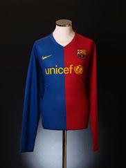 2008-09 Barcelona Home Shirt L/S L