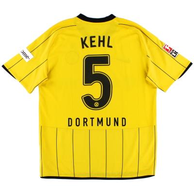 2008-09 Borussia Dortmund Home Shirt Kehl #5 M