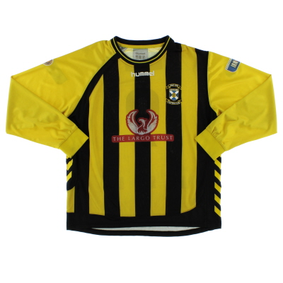 2008-09 East Fife Match Issue Home Shirt #9 L/S XL