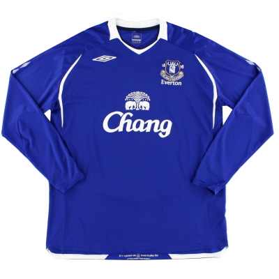 2008-09 Everton Home Shirt L/S XXL