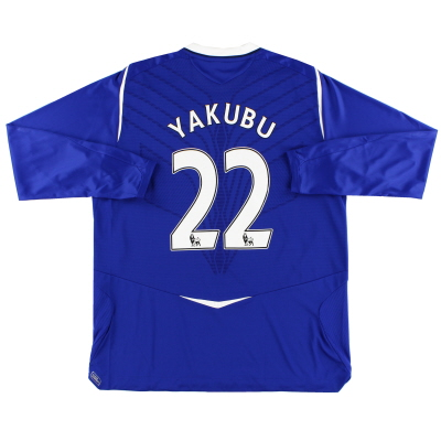 2008-09 Everton Home Shirt Yakubu #22 L/S XL