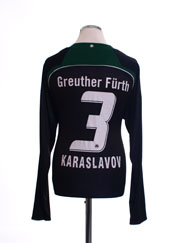 2008-09 Greuther Furth Home Shirt Karaslavov #3 L/S XL
