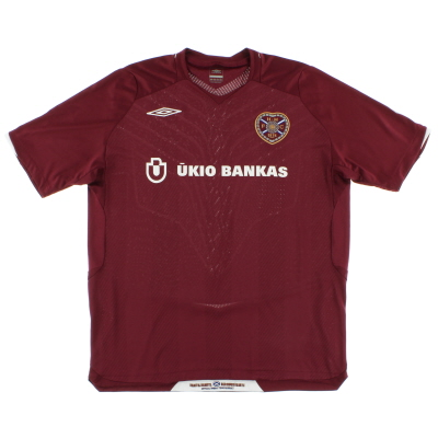 2008-09 Hearts Home Shirt XL