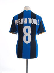 2008-09 Inter Milan Home Shirt Ibrahimovic #8 S