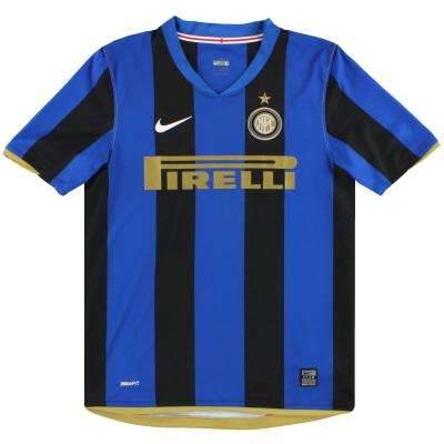 2008-09 Inter Milan Nike Home Shirt L.Boys