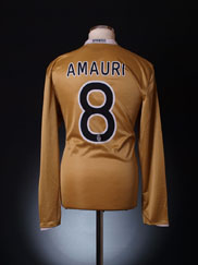 2008-09 Juventus Player Issue Away Shirt Amauri #8 L/S XL