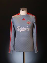 2008-09 Liverpool Away Shirt L/S S