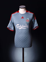 2008-09 Liverpool Away Shirt L