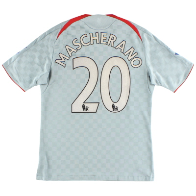 2008-09 Liverpool Away Shirt Mascherano #20 M