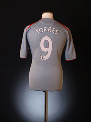 2008-09 Liverpool Away Shirt Torres #9 Y