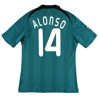 2008-09 Liverpool CL Third Shirt Alonso #14 M