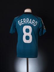2008-09 Liverpool European Third Shirt Gerrard #8 XS