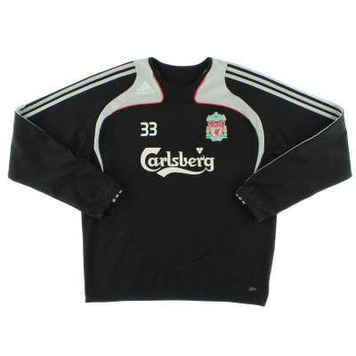 2008-09 Liverpool Player Issue adidas Sweatshirt #33 L