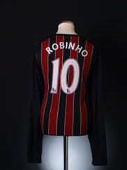 2008-09 Manchester City Away Shirt Robinho #10 L/S XXL