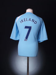 2008-09 Manchester City Home Shirt Ireland #7 XL