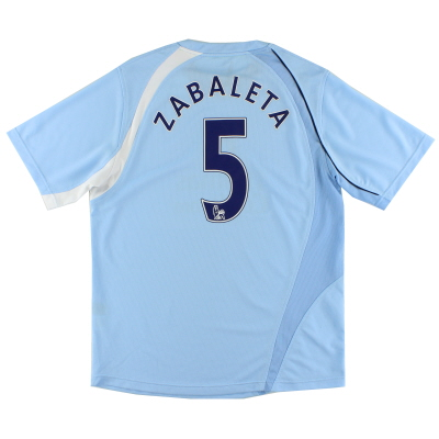 2008-09 Manchester City Home Shirt Zabaleta #5 L
