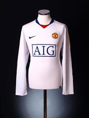 2008-09 Manchester United Away Shirt L/S L