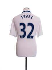 2008-09 Manchester United Away Shirt Tevez #32 L