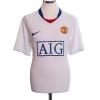 2008-09 Manchester United Away Shirt Tevez #32 L
