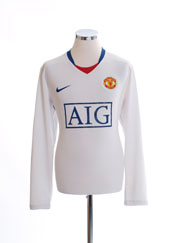 2008-09 Manchester United Away Shirt L/S L