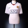 2008-09 Manchester United Away Shirt Berbatov #9 L