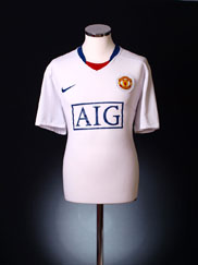 2008-09 Manchester United Away Shirt L