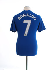2008-09 Manchester United Third Shirt Ronaldo #7 L