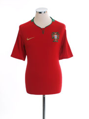 2008-09 Portugal Home Shirt *Mint* XL