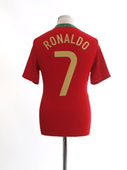 2008-09 Portugal Home Shirt Ronaldo #7 S