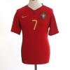 2008-09 Portugal Home Shirt Ronaldo #7 S