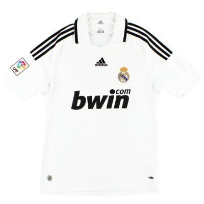 2008-09 Real Madrid adidas Home Shirt L