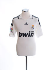 2008-09 Real Madrid Home Shirt S