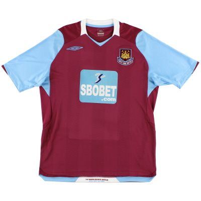 2008-09 West Ham Home Shirt L
