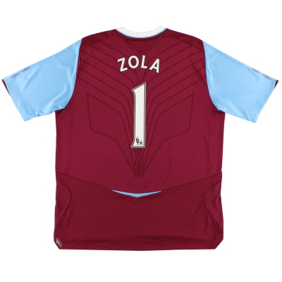 2008-09 West Ham Home Shirt Zola #1 XL