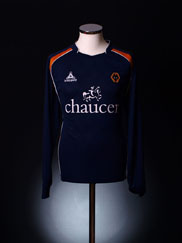 2008-09 Wolves Away Shirt L/S L