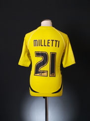 2008-10 Aldershot Town Match Issue Away Shirt Milletti #21 M