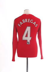 2008-10 Arsenal Home Shirt Fabregas #4 L/S S