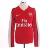 2008-10 Arsenal Home Shirt Fabregas #4 L/S S