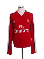 2008-10 Arsenal Home Shirt L/S L