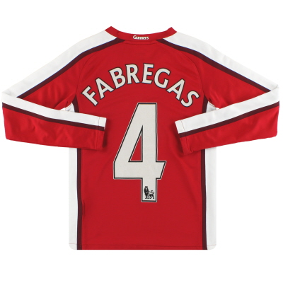 2008-10 Arsenal Nike Home Shirt Fabregas #4 L/S S.Boys