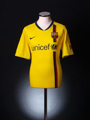 2008-10 Barcelona Away Shirt XL.Boys