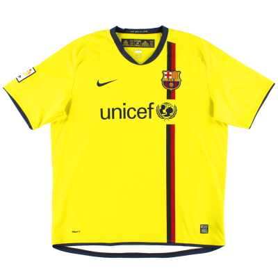2008-10 Barcelona Away Shirt L.Boys