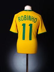 2008-10 Brazil Home Shirt Robinho #11 M