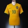 2008-10 Brazil Home Shirt Ronaldinho #10 XL